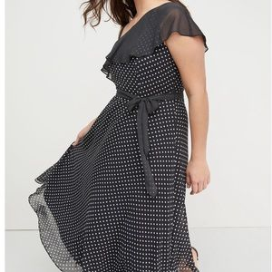 Lane Bryant Polka Dot Fit and Flare NWT Size 14